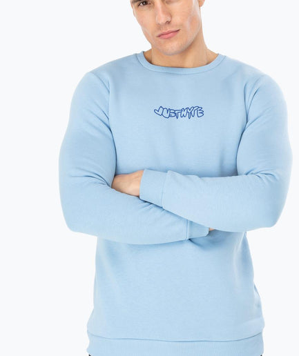 HYPE BLUE HAND FLOWER MEN'S CREWNECK