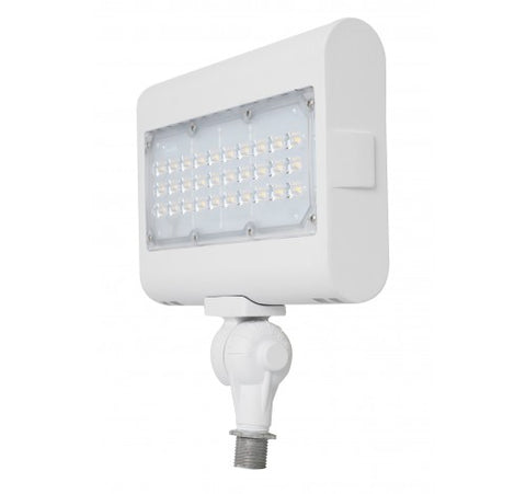 "Westgate 50W Large Led Flood Lights LF3 Series 120~277V With 1/2"" Knuckle - White - BuyRite Electric"