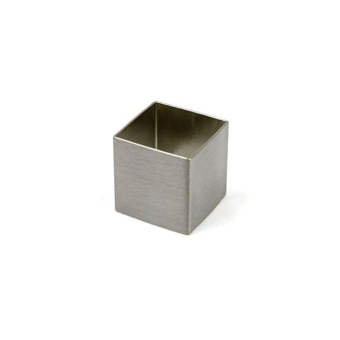 Cube - Brushed Chrome ring