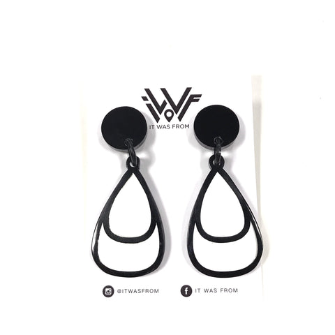 Lola - Monochrome Statement Earrings