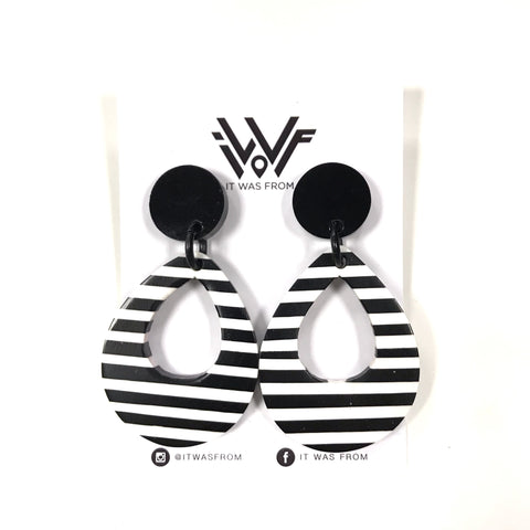 Yasmine - Monochrome Statement Earrings