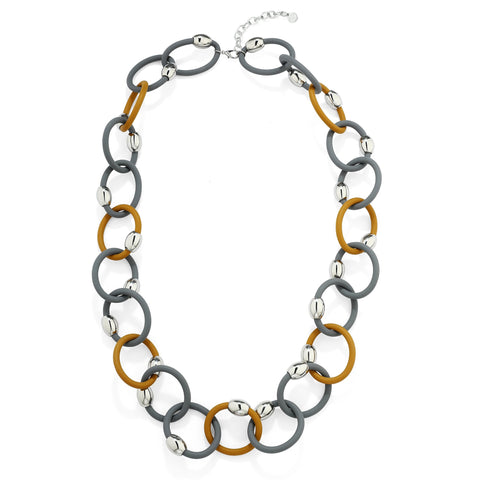 Nora - Long Rubber Chain Necklace