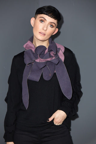Heather - Lilac and Purple Luxurious scarf