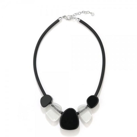 Thelma - Chunky Beaded Rubber Necklace