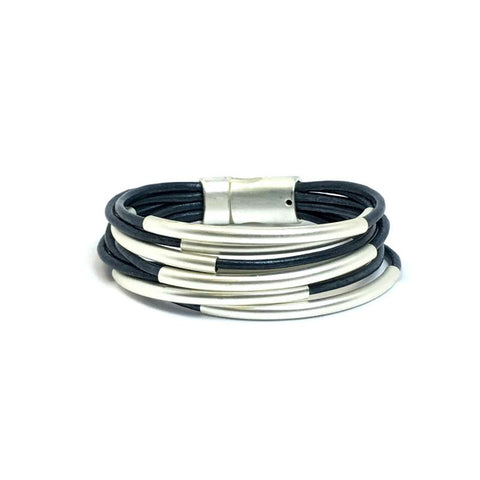 Myra - Multi Strand Leather Bracelet