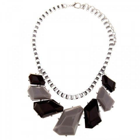 Roxie- Short Chunky Chain Gemstone Necklace