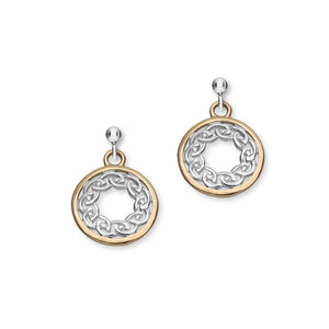 Cuillin Silver/9K Rose Gold Earrings E1060