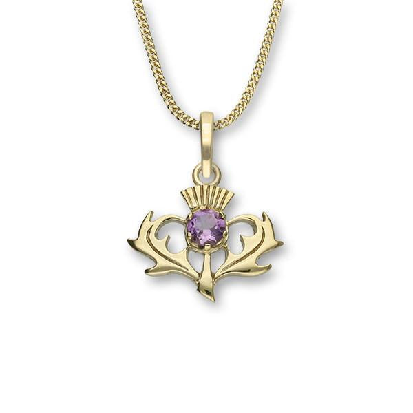 Thistle Silver Pendant CP7 Amethyst