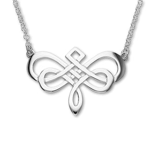 Celtic Silver Necklet N91