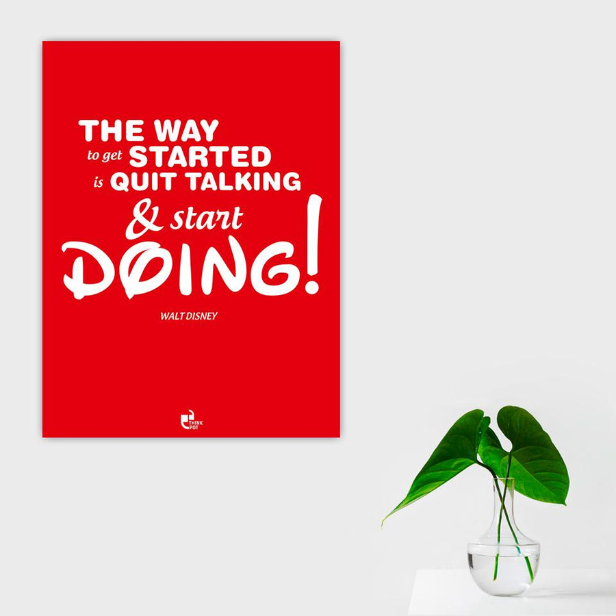 The way to get started Poster - Walt Disney