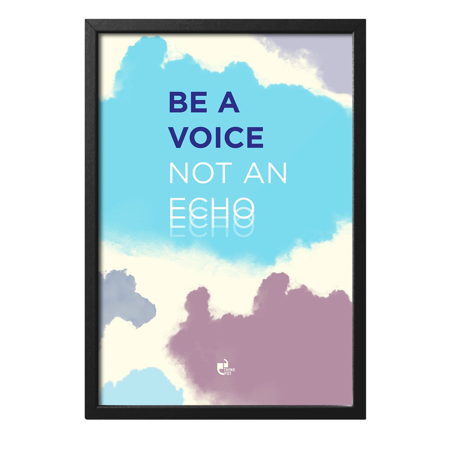 Be A Voice Black 12X8 Frame