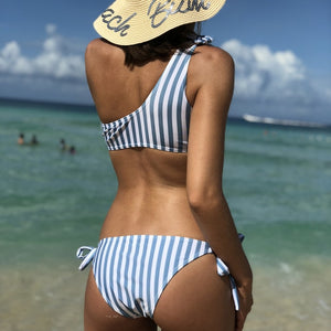 One Shoulder ruffle Two Piece Bikini