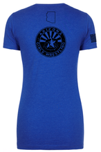 Load image into Gallery viewer, Women's Next Level Tee Royal Stack