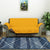 2 Seater Reversible Sofa Cover 179 cm x 223 cm (Mustard & Brown)
