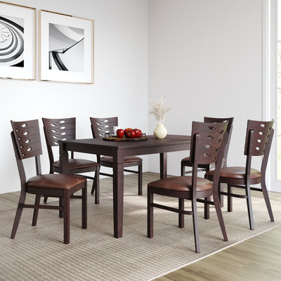 Fern Six Seater Dining Set (Erin Brown)