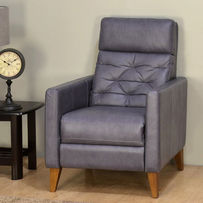 Kennedy 1 Seater Push Back Recliner (Grey)