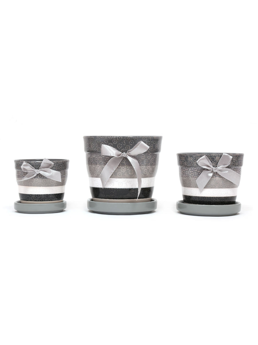 Dandelion Planters Set of 3 (Black & White)