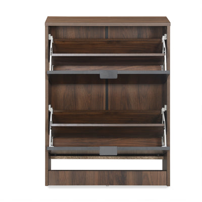 Florine Two Tier Shoe Cabinet (Walnut)