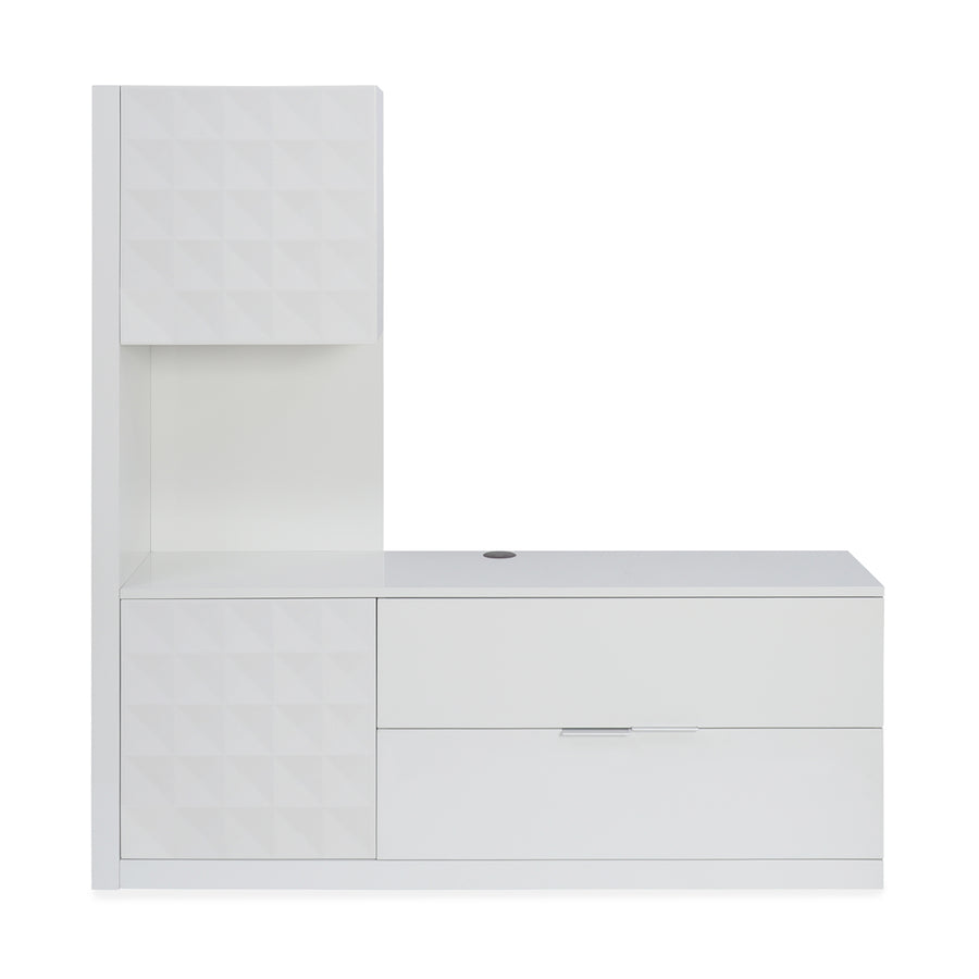 Theia High Gloss Low Height Wall Unit (White)