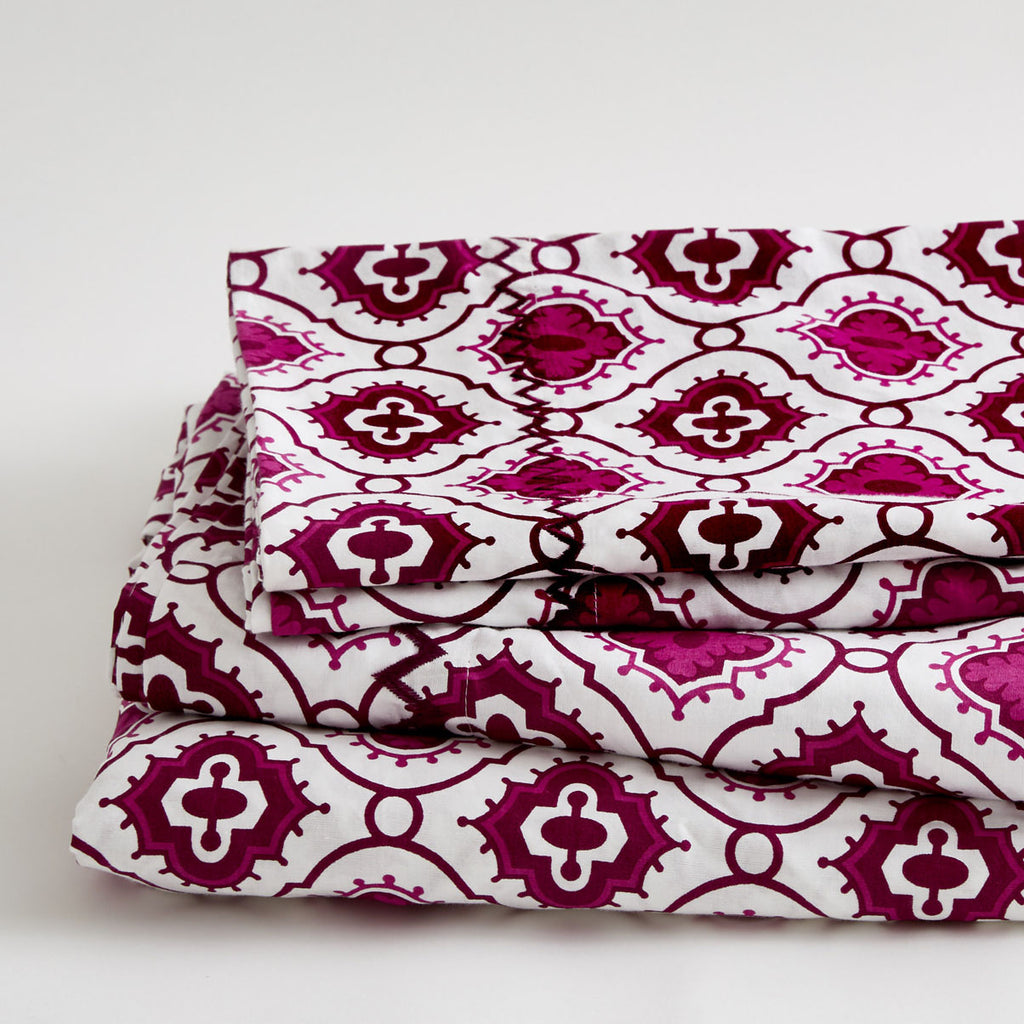 PURPLE OGEE SHEET SET