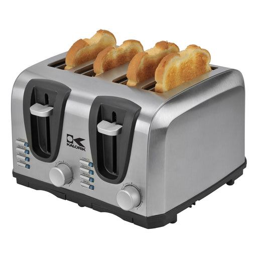 Kalorik 4 Slice Stainless Steel Toaster.