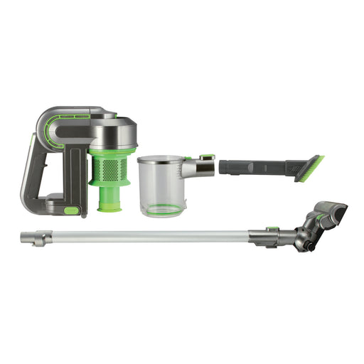 Kalorik Green/Silver 2-in-1 Cordless Cyclonic Vacuum Cleaner.