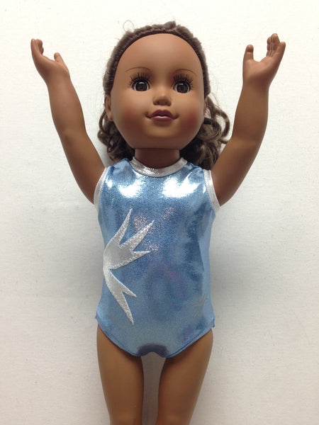 Doll Bodysuit - Frost 2- Light Blue