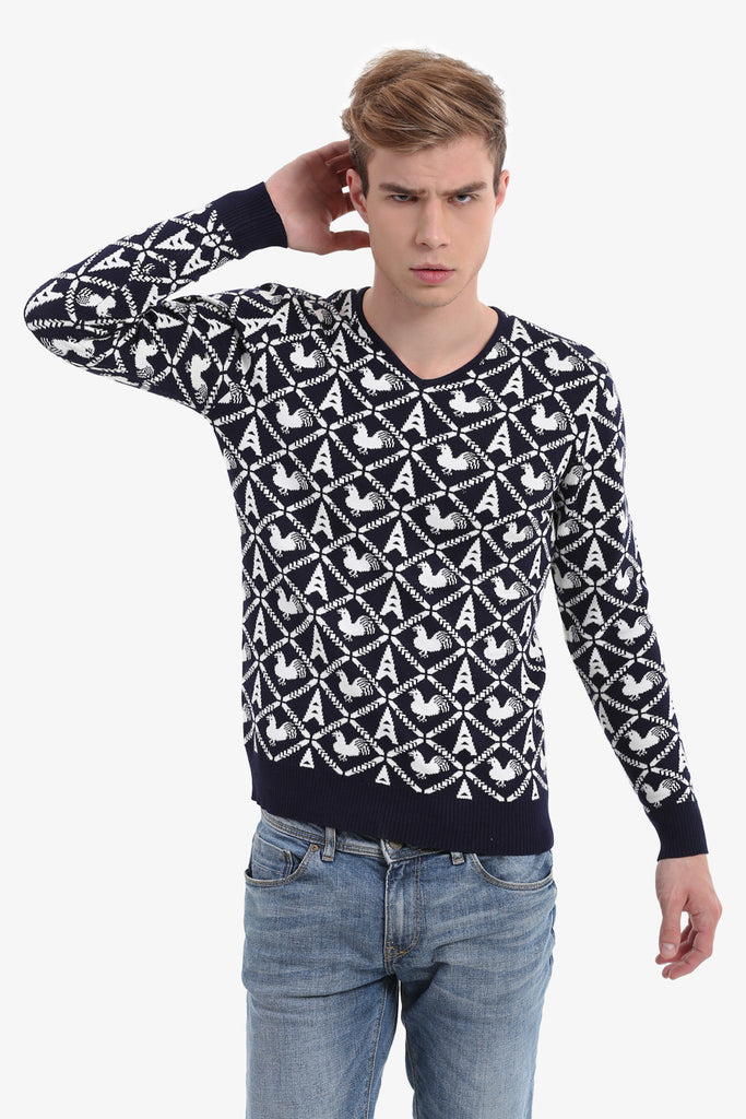 Men's Vintage Sweater In Navy