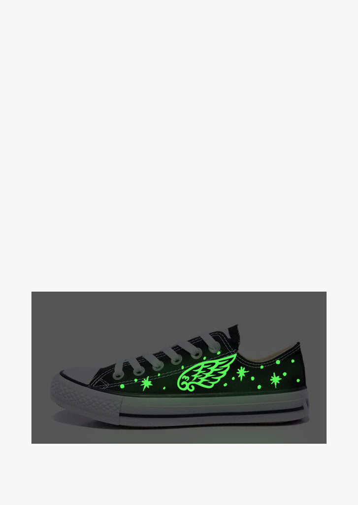 Feather Glow In The Dark Galaxy Sneakers In Black
