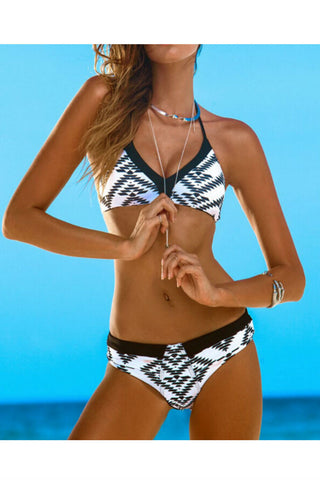 Geo Printed Triangle Bathing Suit