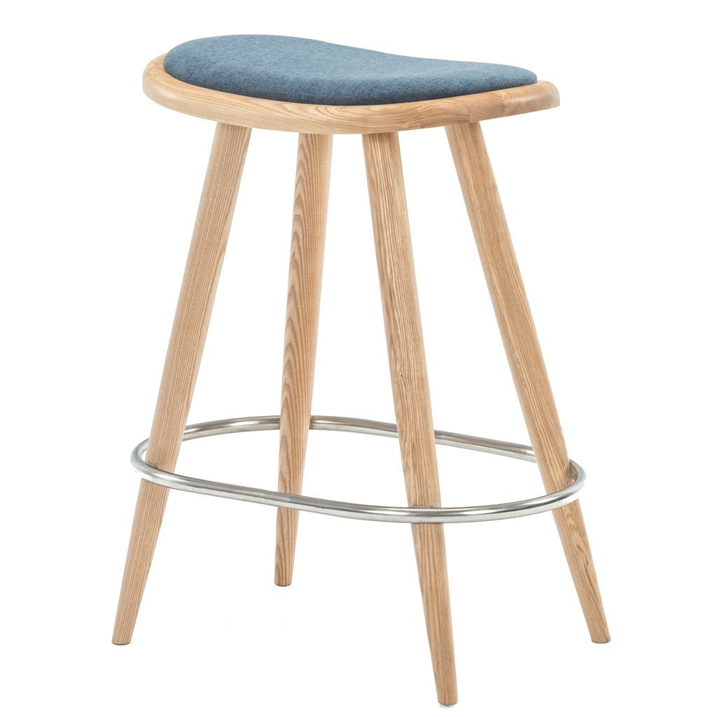 NOFU 646 Bar Stool - Blue/Natural Ash