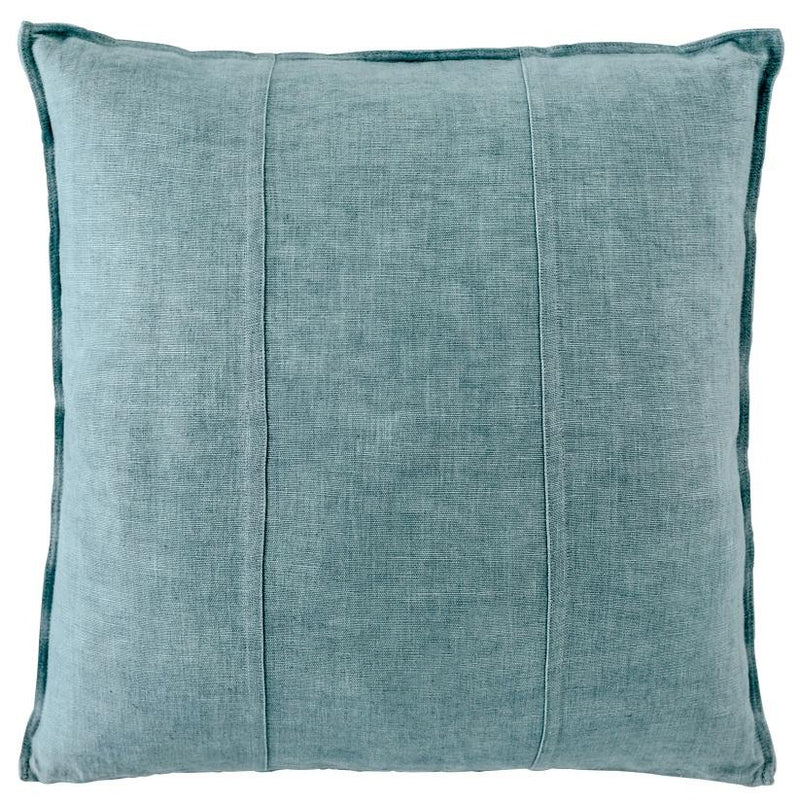 100% Pre Washed Linen Cushion - Sea Mist