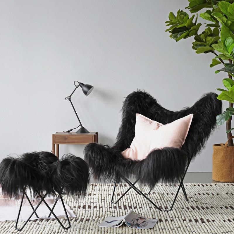 Icelandic Pampa Mariposa Wild Black Chair