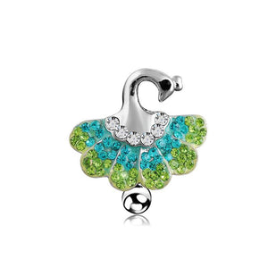 Sexy Multi Color Peacock Belly Button Ring