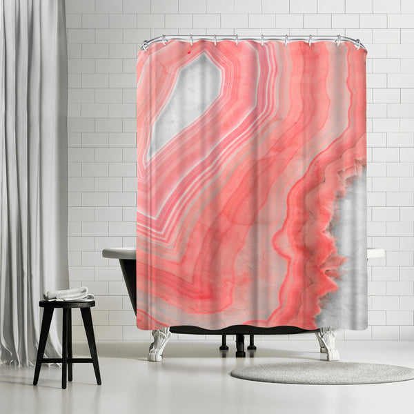 Painted Agate by Emanuela Carratoni Shower Curtain
