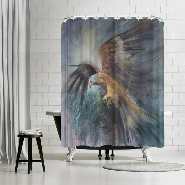 Red Kite Sighting Quarry by Anne Farrall Doyle Shower Curtain