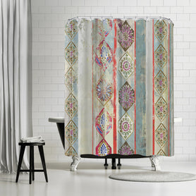 Painted Wood Ii by PI Creative Art Shower Curtain