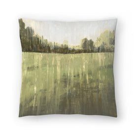 Green Field I by PI Creative Art Decorative Pillow