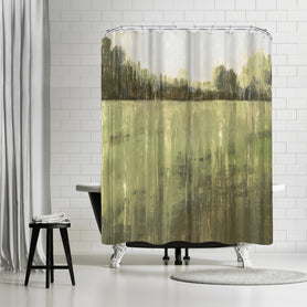 Green Field I by PI Creative Art Shower Curtain