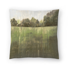 Green Field Ii by PI Creative Art Decorative Pillow