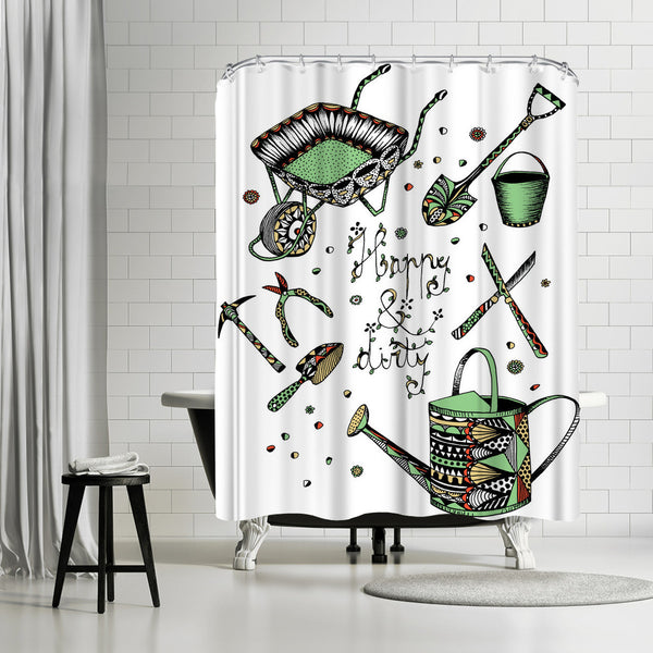 Gardening by Patricia Pino Shower Curtain