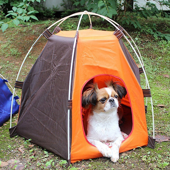 Fabric Foldable Outdoors Waterproof  Pet House Tent