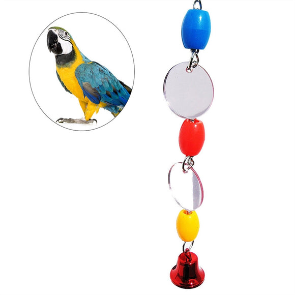 Fancy Mirror Bird Cage Hanging Ornament