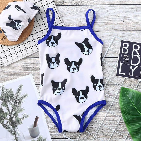 Dog Swimwear Swimsuit Beach Romper Clothes Hat Outfit