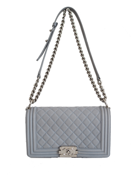 Chanel Medium  Boy ice blue - Iconics Preloved Luxury