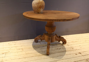 19th Century Round Teak Table