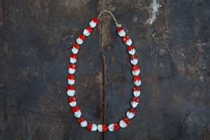Red & White Trade Bead Necklaces