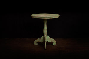 Small Green Painted Teak Side Table