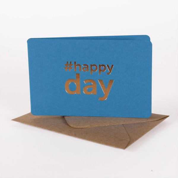 mini carte cadeau happy day bleu