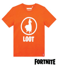 Fortnite Loot Llama Orange T-Shirt for KIDS
